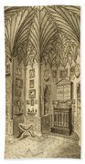 The Cabinet, Engraved By T. Morris Beach Towel
