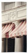 The Cafe Awnings At Chautauqua Institution New York  Beach Towel