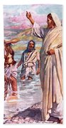 The Call Of Andrew And Peter Beach Towel by Harold Copping