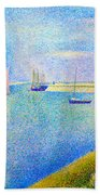 The Canal At  Gravelines Beach Towel