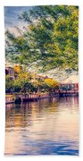 The Canal In Downtown Scottsdale Beach Towel