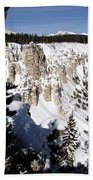 The Canyon In Winter Beach Towel