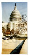 The Capitol Building Beach Towel