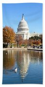 The Capitol In Fall Beach Towel