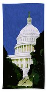 The Capitol  Beach Towel