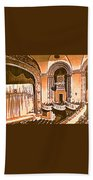 The Capitol Theater In Port Chester Ny Beach Towel