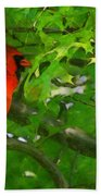 The Cardinal 2 Painterly Beach Towel