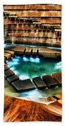 The Cascading Falls - Fort Worth Water Garden  Beach Towel