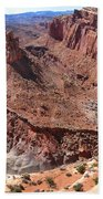 The Castle In Capitol Reef Np Beach Towel