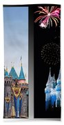 The Castles Of Disney 2 Panel Vertical Beach Towel