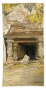 The Cave Of Elephanta, From India Beach Towel