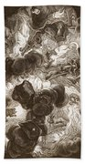 The Chaos, Engraved By Bernard Picart Beach Towel