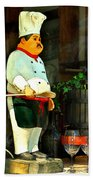 The Chef In The Window Beach Towel