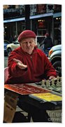 The Chess King Jude Acers Of The French Quarter Beach Towel