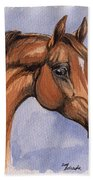 The Chestnut Arabian Horse 1 Beach Towel