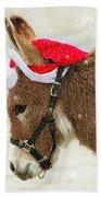 The Christmas Donkey Beach Towel