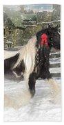 The Christmas Pony Beach Towel by Fran J Scott