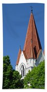 The Chuch Tower- Silute- Lithuania Beach Towel