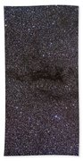 The Cocoon Nebula In The Constellation Beach Towel by Alan Dyer