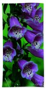 The Color Purple Beach Towel by Kathleen Struckle