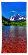 The Colors Of Maroon Bells In Summer Beach Towel