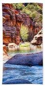 The Colors Of Oak Creek Beach Towel
