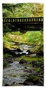 The Coming Of Autumn - Barnes Creek - Lake Crescent - Washington Beach Towel