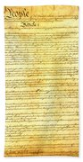 The Constitution Of The United States Of America Beach Towel