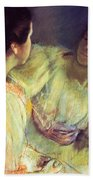 The Conversation Beach Towel by Mary Stevenson Cassatt