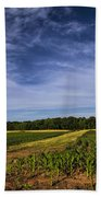 The Corn Fields Of Alabama Beach Towel