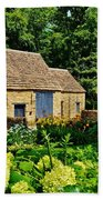 The Cotswald Barn And Dovecove Beach Towel