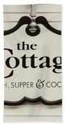 The Cottage In Lake Placid New York  Beach Towel