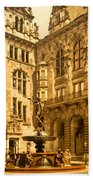 The Court House-hamburg-germany - Between 1890 And 1900 Beach Towel
