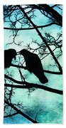 The Courtship Of Crows Beach Towel