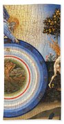 The Creation Of The World And The Expulsion From Paradise Beach Towel