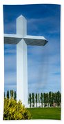 The Cross At Effingham Illinois Beach Towel