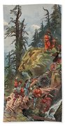 The Crossing Of The Alps, Illustration Beach Towel