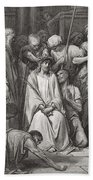 The Crown Of Thorns Beach Towel by Gustave Dore