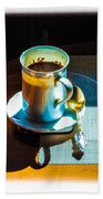 The Cup Of Black Coffee 1 Beach Towel