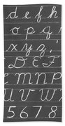 The Cursive Alphabet Beach Towel