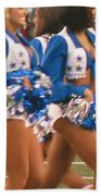 The Dallas Cowboys Cheerleaders Beach Towel by Donna Wilson