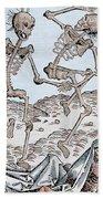 The Dance Of Death Beach Towel