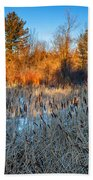 The Dance Of The Cattails Beach Towel
