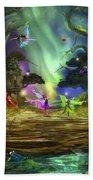 The Dancing Auroras Beach Towel