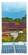 The De Young Fine Arts Museum From Roof Of California Academy Of Sciences In Golden Gate Park-ca Beach Towel