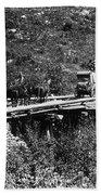 The Deadwood Coach, 1889 Beach Towel