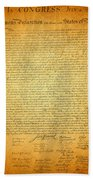 The Declaration Of Independence - America's Founding Document Beach Towel