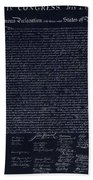 The Declaration Of Independence In Negative Red White And Blue Beach Towel