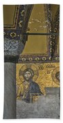 The Deesis Mosaic At Hagia Sophia Beach Towel
