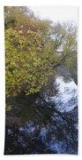 The Delaware Canal In Morrisville Pa Beach Towel